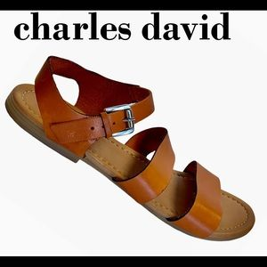 Charles David leather sandals size 9